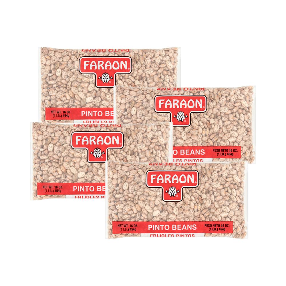 (4 Pack) Faraon Pinto Beans, 16 oz