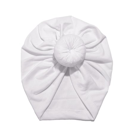 Black Cotton Beanie (Kids Girls Turban Flower Head Wrap India Hat Cotton Beanie Headwrap Caps)