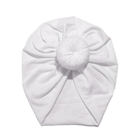 Kids Girls Turban Flower Head Wrap India Hat Cotton Beanie Headwrap Caps