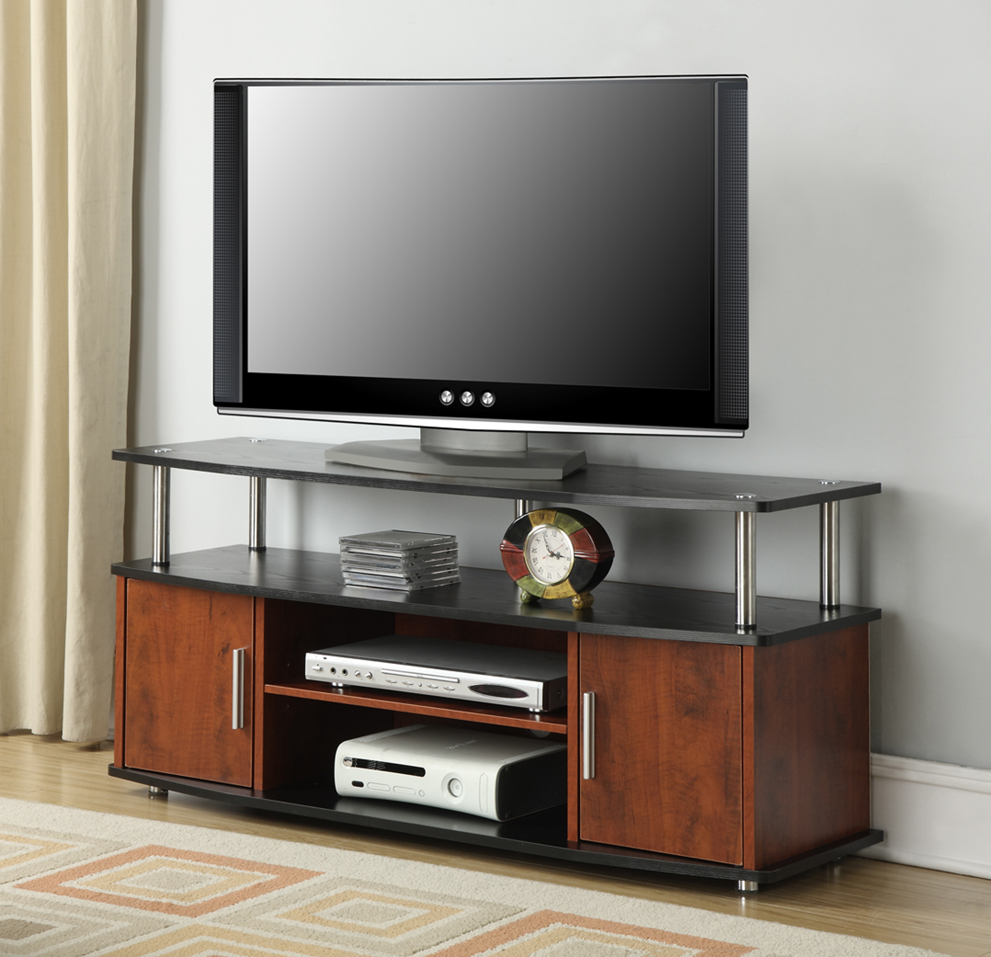 Convenience Concepts Designs2Go Black/Cherry Monterey TV Stand for TVs up to 46""