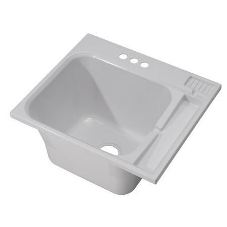 22 Laundry Sink - Cashel 25'' x 22'' Drop-In Laundry Sink
