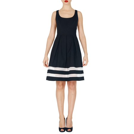 Carmen Marc Valvo Black Pique Dress (6) (Carmen Marc Valvo Wedding)