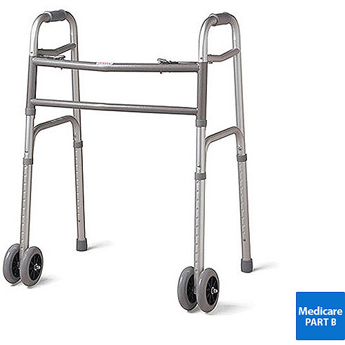 Medline Extra Wide Two Button Walker - MDS86410XWW