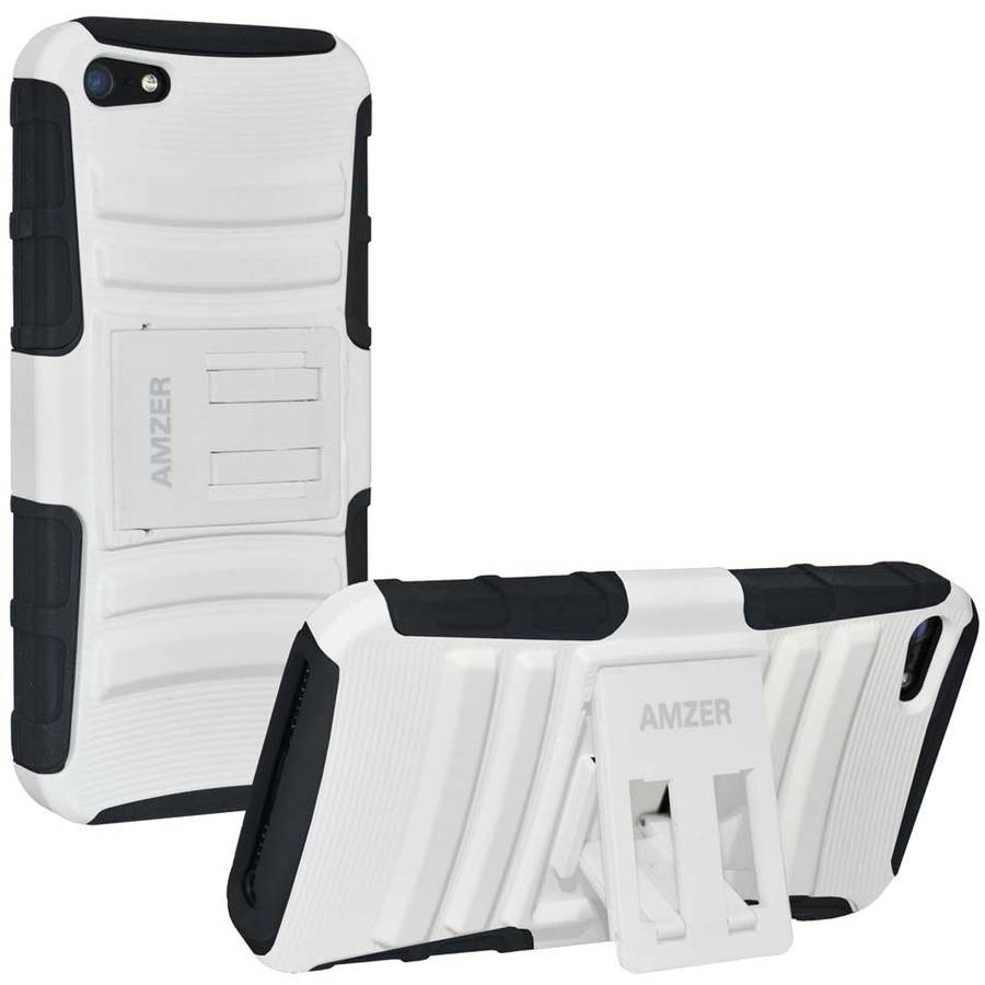 Amzer Hybrid Kickstand Case for Apple iPhone 5/5S/SE