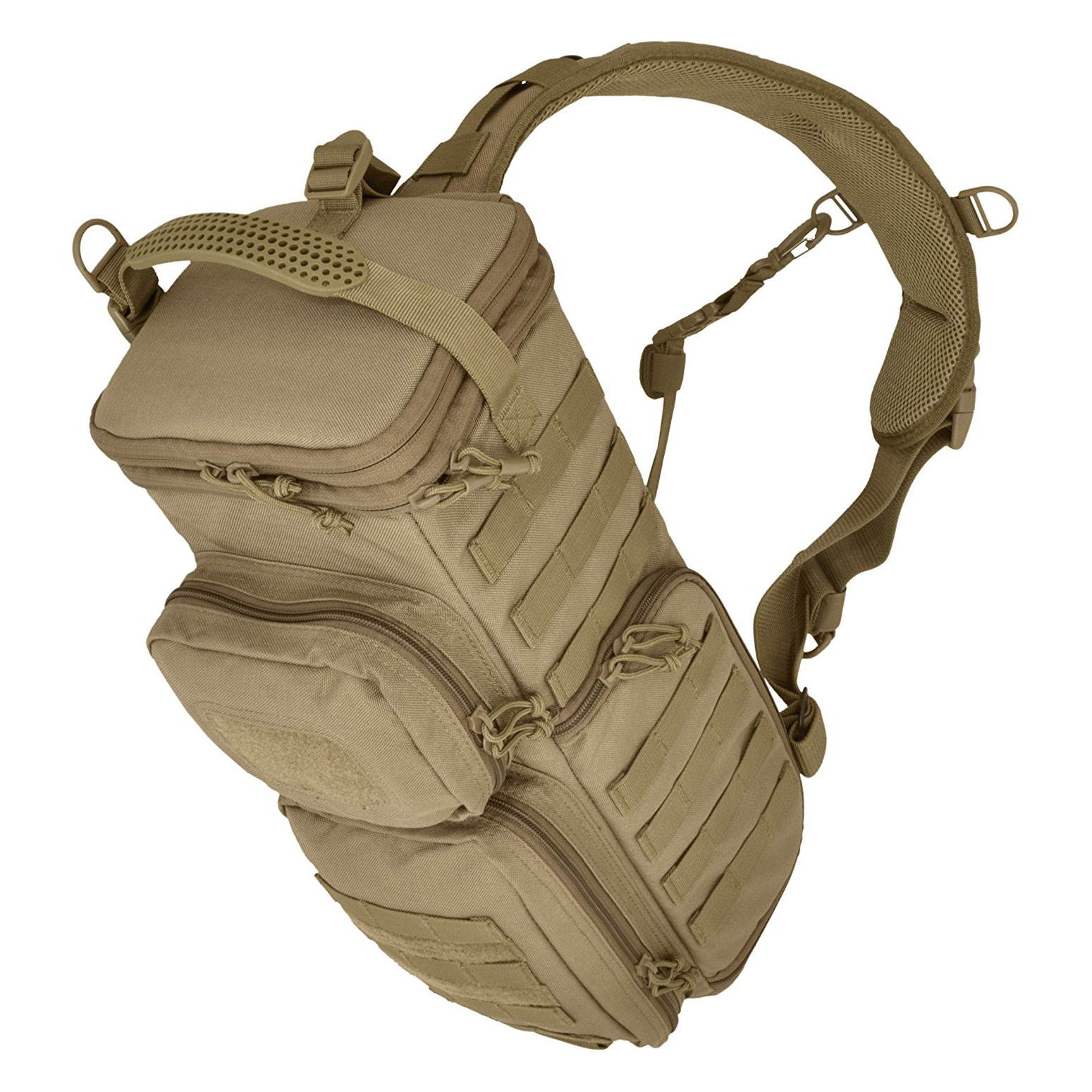 Hazard 4 Photo Recon Modular MOLLE Camera & Optics Backpack Sling Pack, Coyote