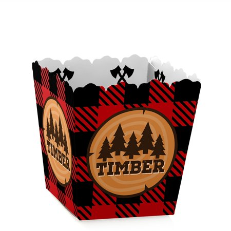 Lumberjack Party (Lumberjack - Channel The Flannel - Party Mini Favor Boxes - Buffalo Plaid or Birthday Party Treat Candy Boxes - Set)