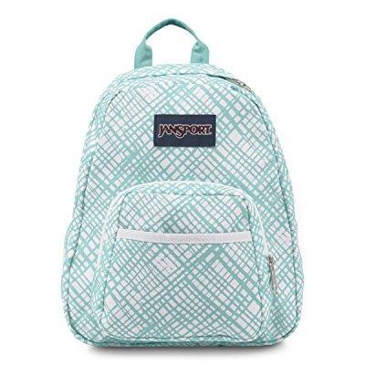 JANSPORT half pint backpack aqua dash jagged plaid 0jj