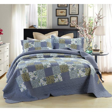 Autumn Flannel Autumn Flannel - DaDa Bedding Rustic Country Cottage Reversible Flannel 2 Piece Twin Quilt Set