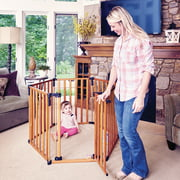 Toddleroo by North States 3-in-1 Wooden Superyard, 12 Ft Baby Gate & Playard