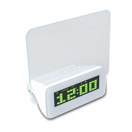 Joyfeel Clearance Digital Calendar Fluorescent Message Board Creative LED Light Alarm Desk Clock Alarm Clock with Large Number for Kids (Fluorescent Alarm Clock)