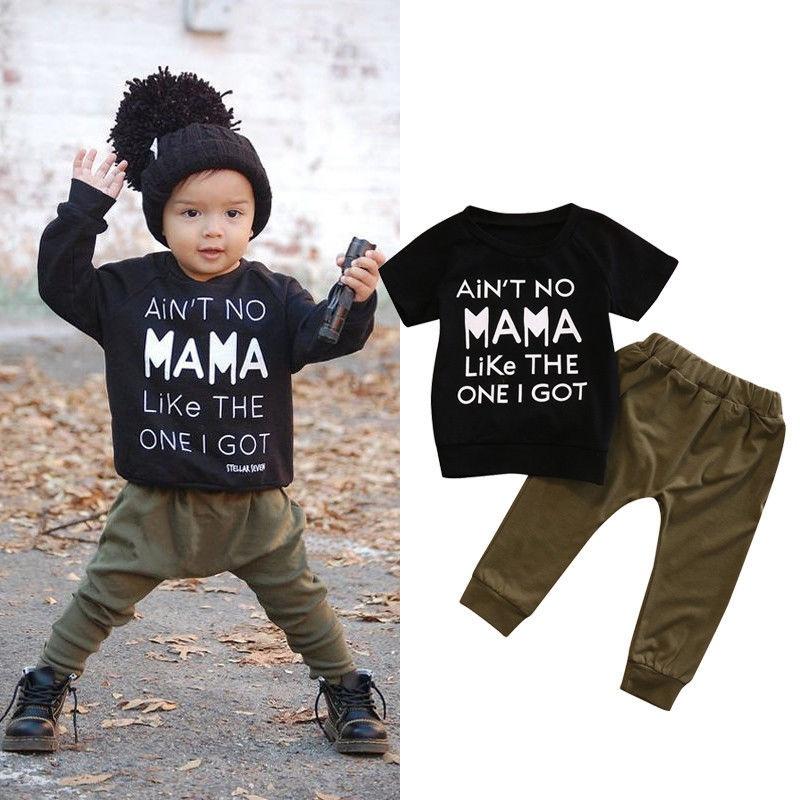 Baby Boy Casual Clothing Suit Kids Girl School Long Sleeve Tops+Pants Cotton Set