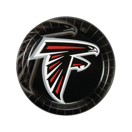 Nfl Atlanta Falcons Dinner Plates for Party - Party Supplies - Licensed Tableware - Licensed Plates & Bowls - Party - 8 Pieces - Super Bowl Paper Plates