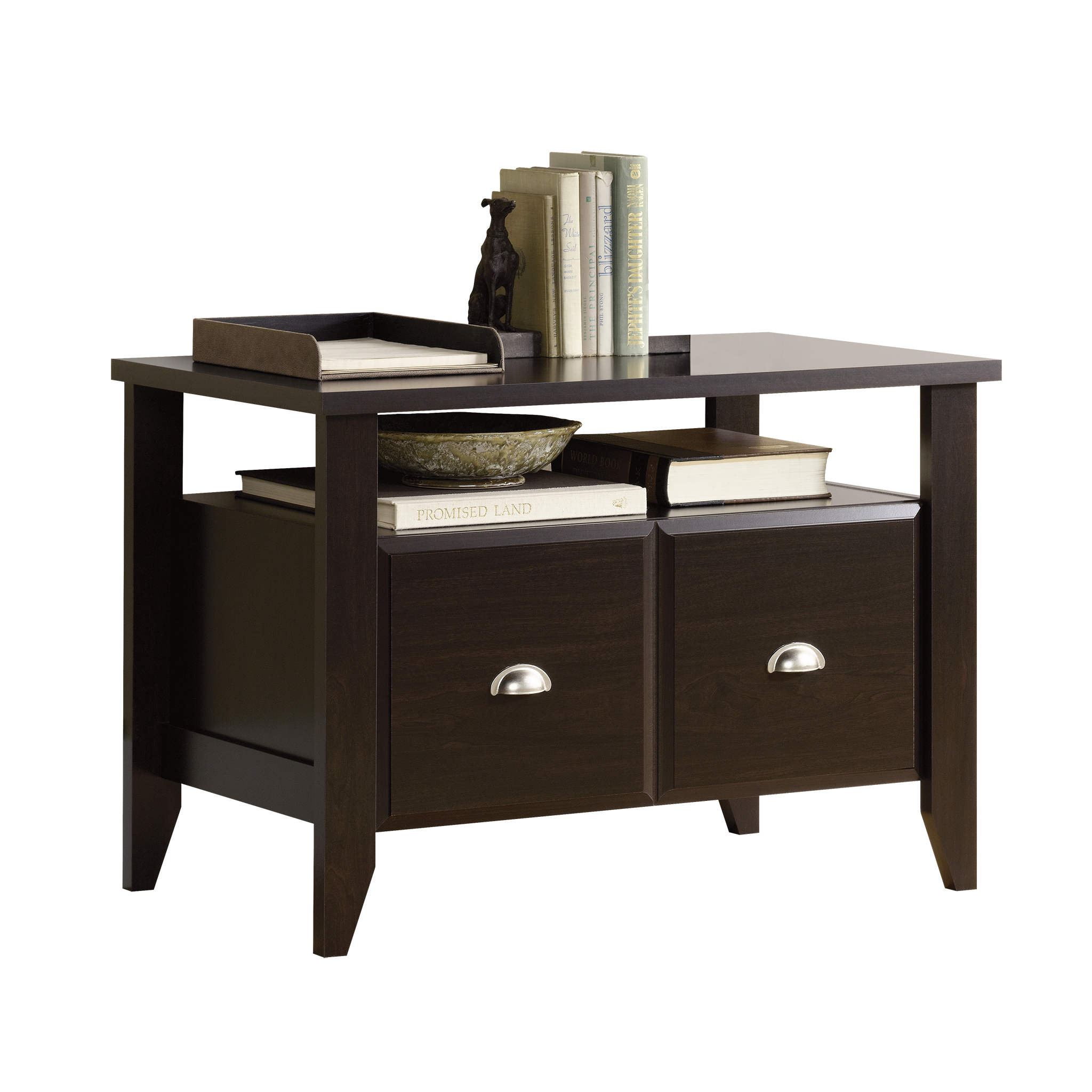 Sauder Shoal Creek 1 Drawer Utility Stand, Jamocha Wood Finish