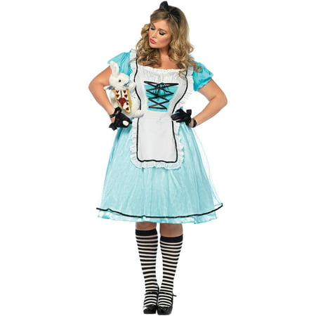 Leg Avenue Women's Plus Size Alice in Wonderland Costume - Alice In Wonderland Play Costumes