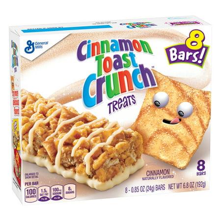 (3 Pack) Cinnamon Toast Crunch Treats, 8 Bars, 6.8 oz - Cinnamon Raisin Toast