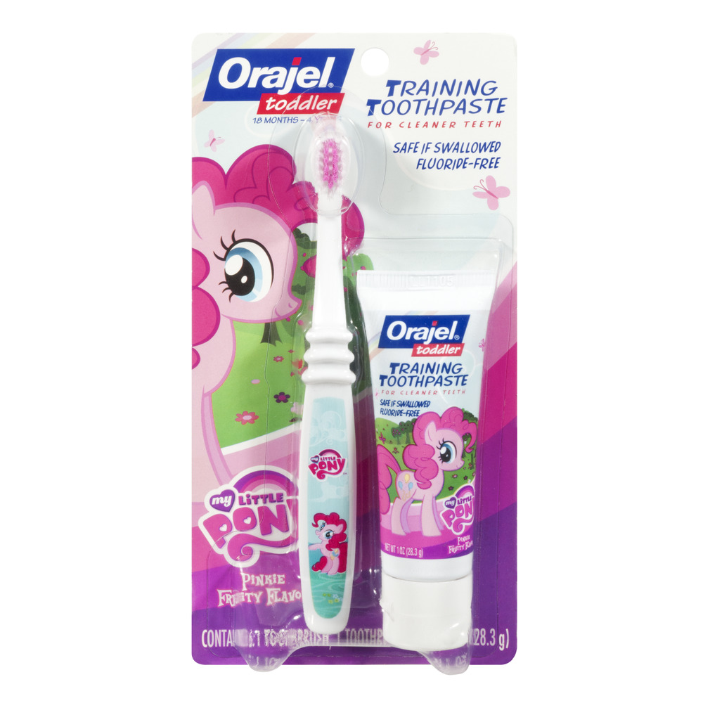 Orajel My Little Pony Toddler 18 Months - 4 Years Pinkie Fruity Flavor Training Toothpaste, 1.0 OZ