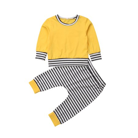 Baby Boys Girls Top and Pants Outfit Set Newborn Toddle Long Sleeve Rabbit Ears Sweatshirt T-Shirt Tops and Stripe Pants Outfits Winter - Jessica Rabbit Outfit