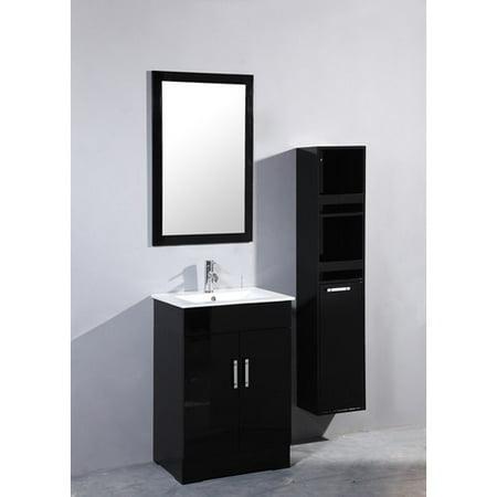 Legion Furniture 24 39 39 Single Bathroom Vanity Set With Mirror And Cabinet
