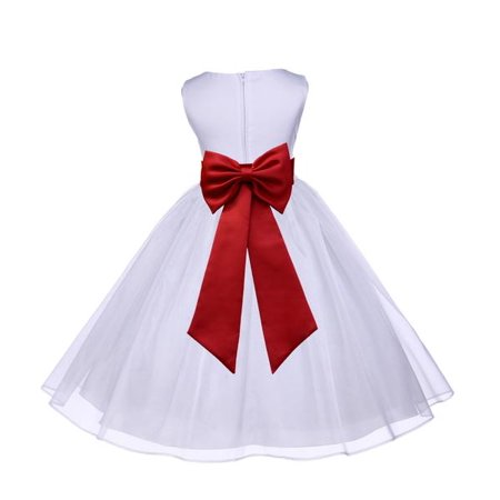 - Ekidsbridal White Shimmering Organza Junior Flower Girl Dress First Communion Dress Holy Baptism Dress Christening Dress Easter Summer Dresses Special Occasion Dresses Junior Bridesmaid Dress 841T