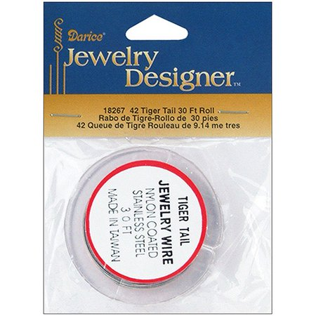 Tiger Tail Jewelry Wire, 30'pk, Silver