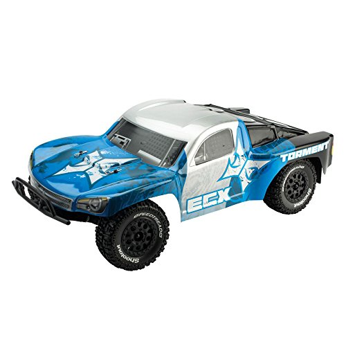 ECX Torment 2WD RTR Short Course Truck (1/10 Scale), Silver/Blue