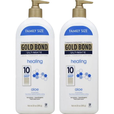 (2 Pack) Gold Bond Ultimate Healing Skin Therapy Lotion with aloe, (Best Body Lotion For Dry Skin In Summer With Spf)