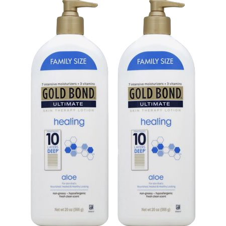 (2 Pack) Gold Bond Ultimate Healing Skin Therapy Lotion with aloe, (La Source Hand Therapy Cream)