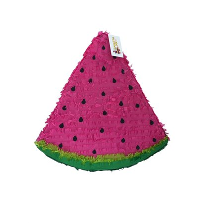 APINATA4U Watermelon Pinata Hot Pink Color Tropical Theme Party Favor - Dog Themed Party
