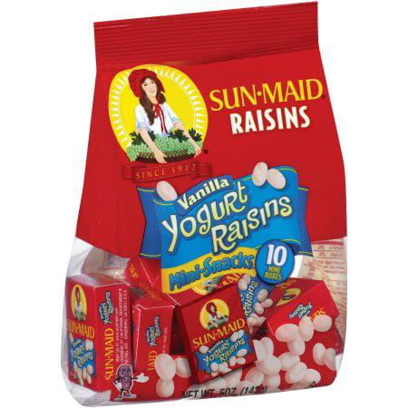 Vanilla Yogurt Raisins Mini-snacks (Pack of 10)