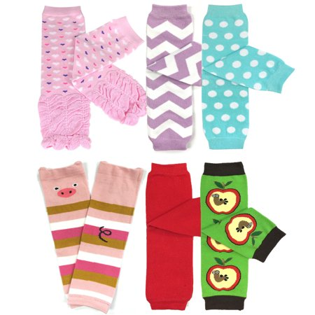 Wrapables® Baby & Toddler Girls Set of 6 Assorted Leg Warmers, GS02