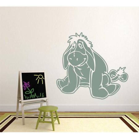 Eeyore Decals - Winnie The Pooh Eeyore Cartoon Characters Silhouette Baby Nursery Room Boy Girl Custom Wall Decal Vinyl Peel & Stick Sticker 12 Inches X 12 Inches