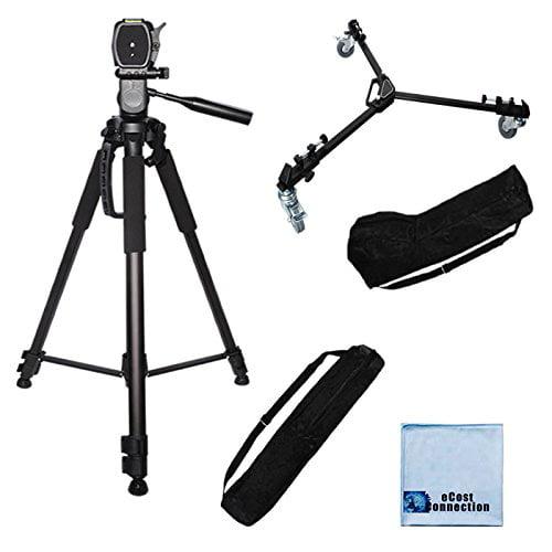 + Microfiber Cloth HDR-TD20 80-Inch Elite Series Professional Heavy Duty Camcorder Tripod HDR-TD30V HDR-GW77 DCR-SX85 /& More.. HDR-MV1 BP SLR Backpack for Sony HDR-TD10