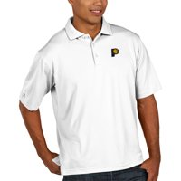 Indiana Pacers Antigua Pique Xtra Lite Big & Tall Polo - White