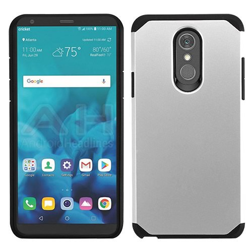 For Alcatel idealXTRA | 1X Evolve | TCL LX (2018) Phone Case Fusion Hybrid Cover (Silver/Black)