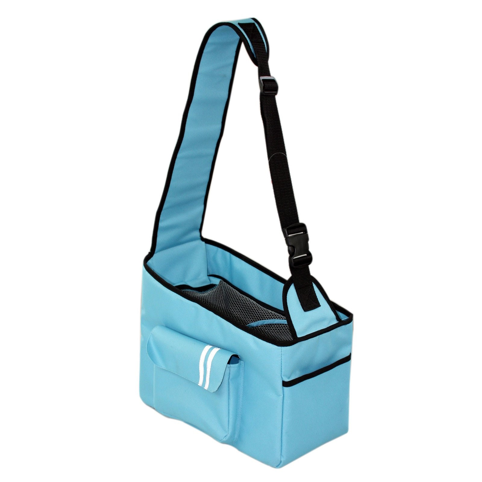Fashion Back-Supportive Over-The-Shoulder Fashion Pet Carrier, Light Blue, One S by Pet Life