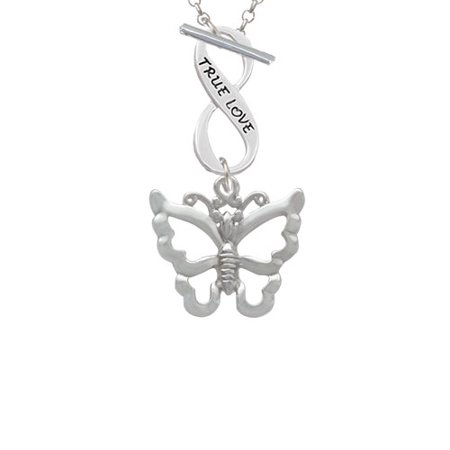 Large Open Butterfly True Love Infinity Toggle Chain Necklace - Butterfly Trade