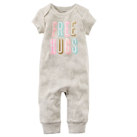 Carter's Baby Girls' Free Hugs Jumpsuit, 3 Months](Baby Hogs)
