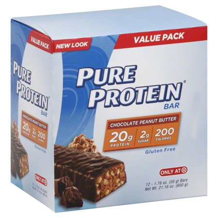 Pure Protein Bar, 20 Grams of Protein, Chocolate Peanut Butter, 1.76 Oz, 12 Ct