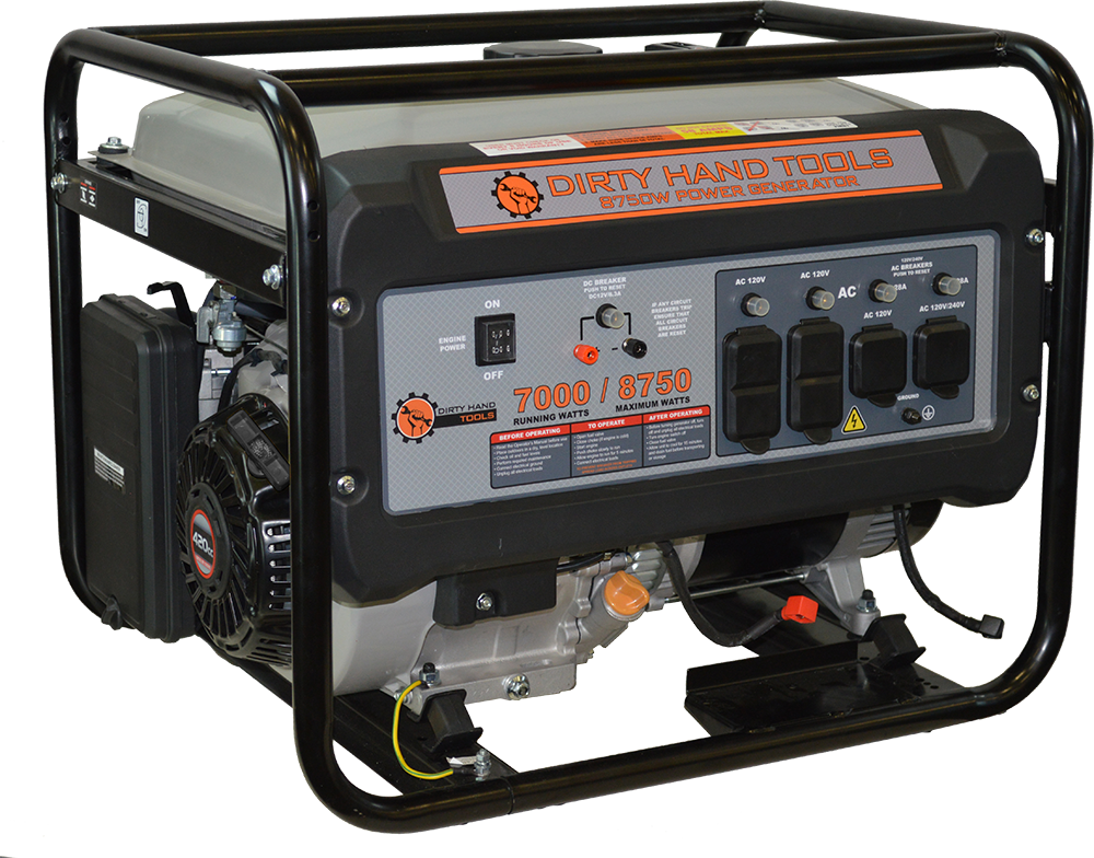 Dirty Hand Tools 8750W Gas Powered Generator by FrictionlessWorld LLC