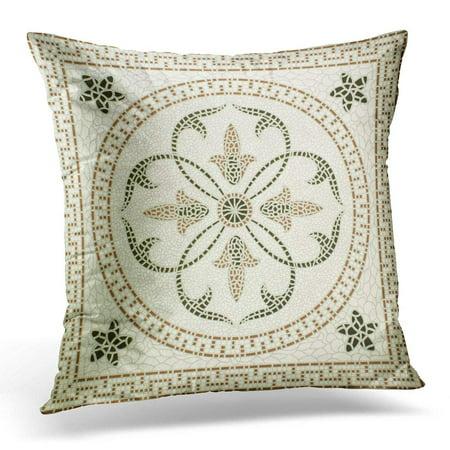 ARHOME Brown Floor Marble Stone Mosaic High Res Green Wall Pillows case 18x18 Inches Home Decor Sofa Cushion Cover ()