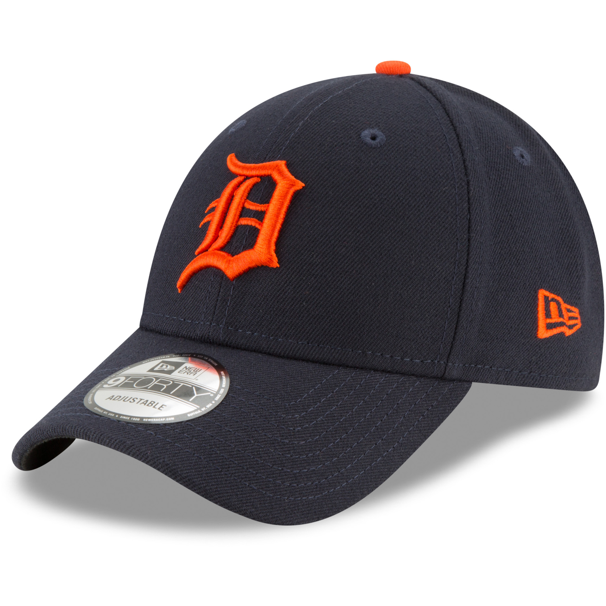 Detroit Tigers New Era Away The League 9FORTY Adjustable Hat - Navy - OSFA