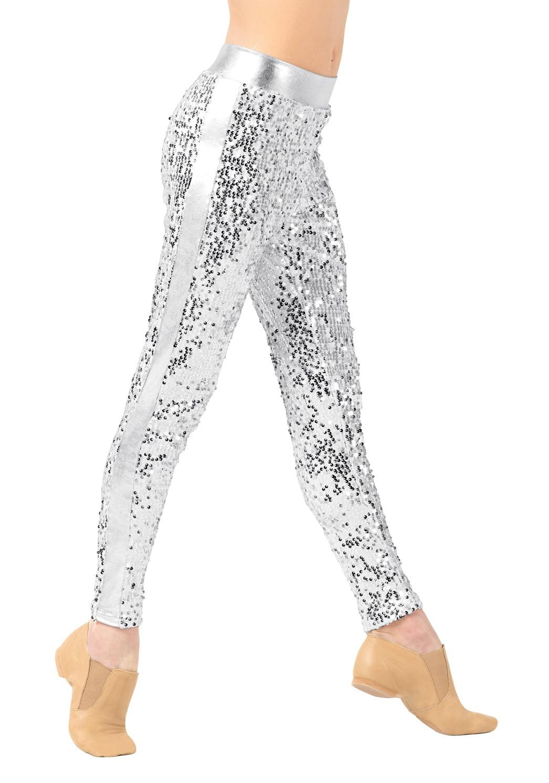 Girls Sequin Leggings