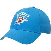 Men's Blue Oklahoma City Thunder Mass Basic Adjustable Hat - OSFA