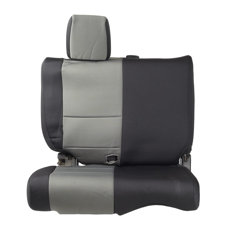 Smittybilt 46522 Neoprene Seat Cover; Black/Charcoal; Rear;