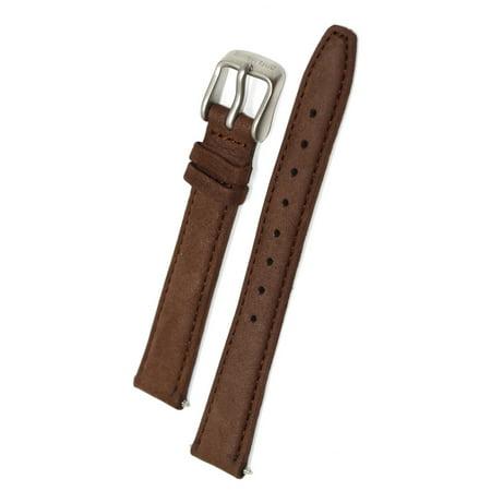 14MM BROWN TIMBERLAND PADDED SOFT GENUINE LEATHER WATCH BAND STRAP Brown Genuine Soft Leather