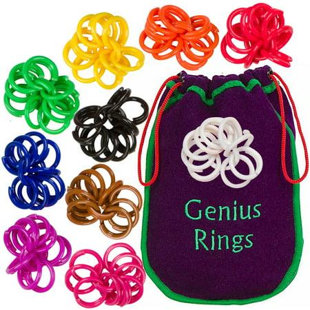 Genius Rings Chinese Jacks Toy Educational Math Counting Rings by The Genius Baby (Math Counting Money)