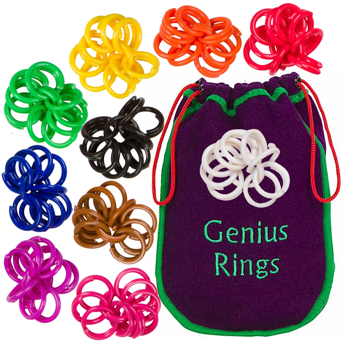 Genius Rings Chinese Jacks Toy Educational Math Counting Rings by Genius Baby Project
