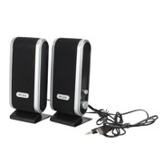 2Pcs USB Powered Computer Speakers Stereo 3.5mm with Ear Jack for Desktop PC Laptop