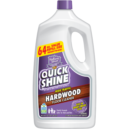 Quick shine high traffic hardwood floor cleaner 64 oz for Wood floor quick shine
