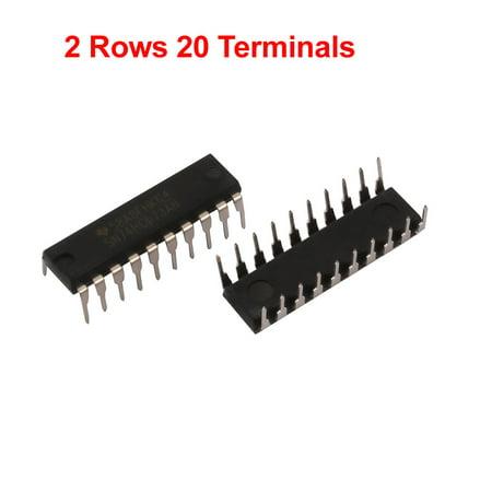 5Pcs 2V-6V 7.8mA Flat Ribbon Cable 2 Rows 20 Terminals Trigger Connector Black - image 1 de 2